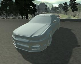 3D Nissan GTR - 34