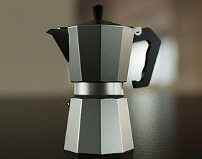 3D model Big Coffee Pot - Classic Design