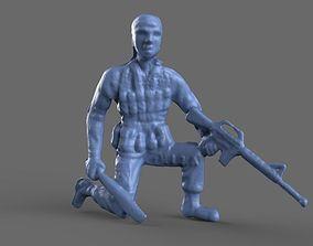 Green Army Men Machete 3D model