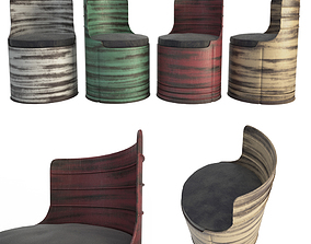 3D Drum Industrial Armchairs used