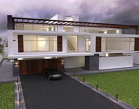 Modern Villa 01 3D asset