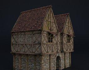 3D asset OLD MEDIEVAL BUILDING 05