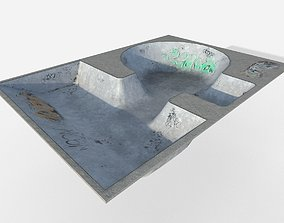 Skate park Pool 3D asset