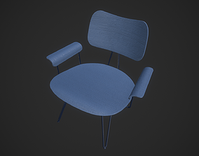 animated Wooden chair 3D model