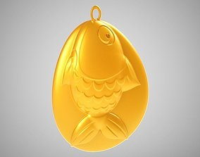 Rock Fish Necklace 3D print model