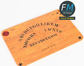 Ouija board with planchette 3D