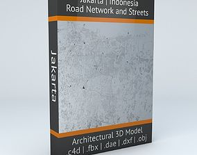 3D model Jakarta Road Network and Streets