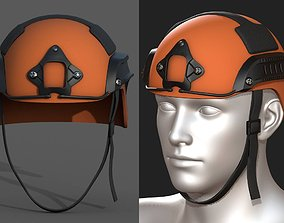 3D model Helmet military combat armor scifi