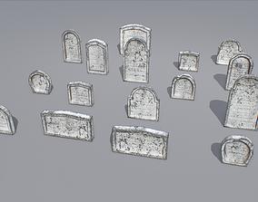 Gravestones pack 6 3D model