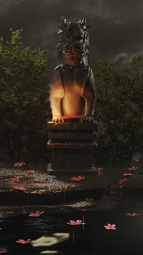 Stone Dragon from Mulan