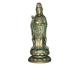 Goddess of Mercy 3D print model 3D model realtime