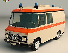 Low Poly Ambulance 01 3D model