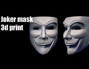 Joker mask helmet 3D print model
