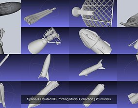 Space-X Related 3D-Printing Model Collection
