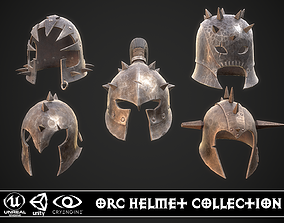 Orc Helmet Collection 3D model