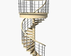 3D model Spiral Staircase2