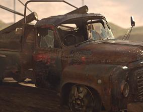 Old Abandoned Truck 3D asset