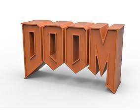 3D printable DOOM emblem