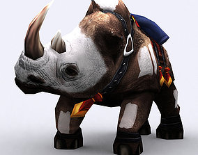 animated VR / AR ready 3DRT - Fantasy Mount - Rhino