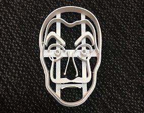 Cookie Cutter Casa de Papel Mascara 3D printable model