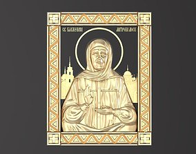 3D print model Russian icon Holy Matrona 048