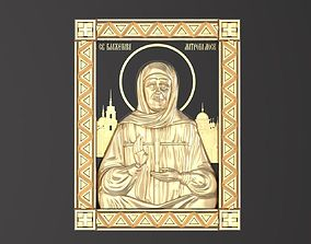 3D print model Russian icon Holy Matrona 048