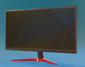 low-poly LOW POLY LED Monitor 3D model