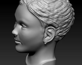 3D print model Little girl head