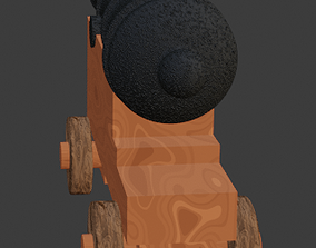 Cannon and mortar pack - low poly 3D