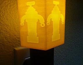 Robot Hexagon Night Light 3D printable model