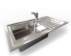 Kitchen Sink with Mixer Tap 3D model