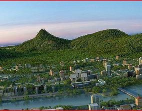 3D Modern City Animated 108