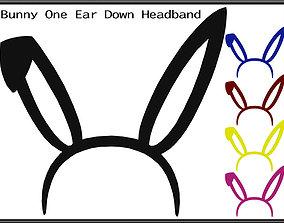 3D asset Bunny One Ear Down Headband