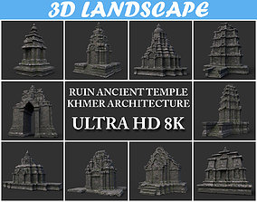 3D Ruin Ancient Temple - Khmer Architecture Pack B-01