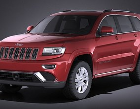 Jeep Grand Cherokee 2016 VRAY 3D