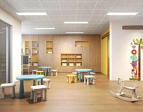 Children classroom 3D model
