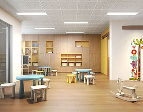 Children classroom 3D model