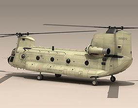 CH-47 US Army desert 3D model