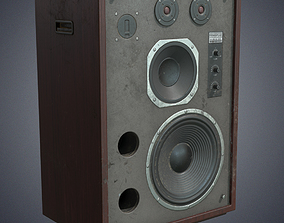 3D model Speaker retro