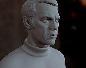 printer 3d printable model Steve McQueen bust