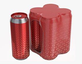 Packaging for 500ml four standard beverage soda 3D model 1