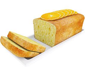 Cake with orange slices 3D