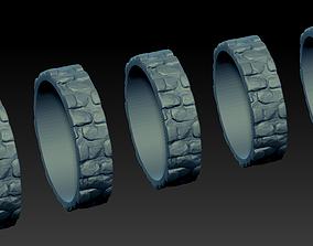3D print model Ring Stonework