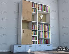 3D books Bookshelf