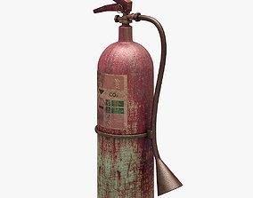3D asset Fire Extinguisher Dirty