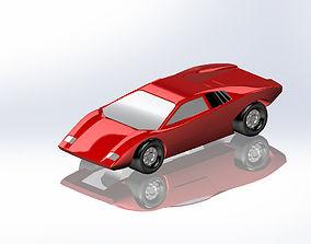 1971 Lamborghini Countach LP500 3D print model
