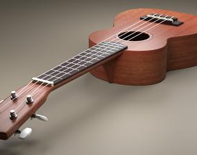 Ukulele 3D model wood
