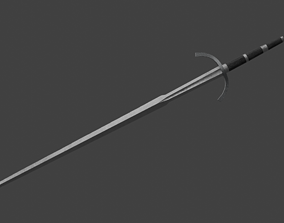 Two-Handed Danish Sword 3D asset