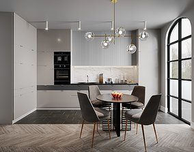 3D Kitchen modern interior Cinema4D Corona renderer