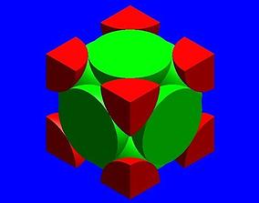 3D FCC unit cell